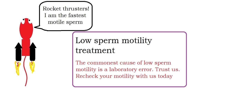 Low sperm motility treatment   male infertility treatment
