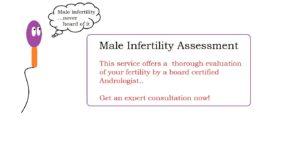 male infertility assessment | male infertility treatment